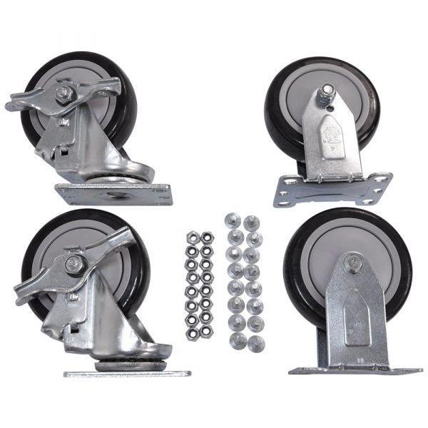"""4"""" Replacement Caster Kit for 30/40/50/60 Carts"""