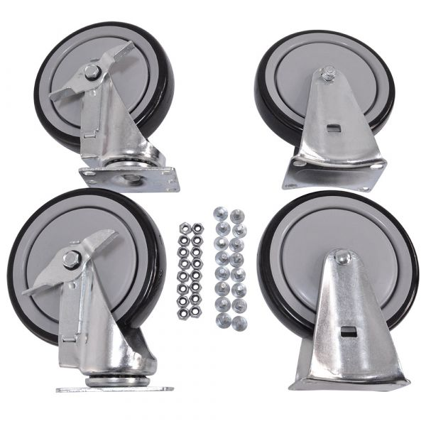 "6"" Replacement Caster Kit for 30/40/50/60 EasyRoller Carts"