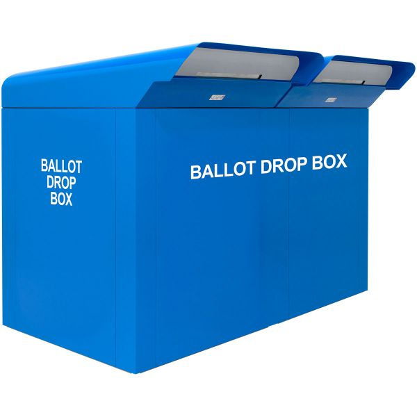 """CollectionPoint 76"""" Drive-up Dual Ballot Drop Box - Blue"""