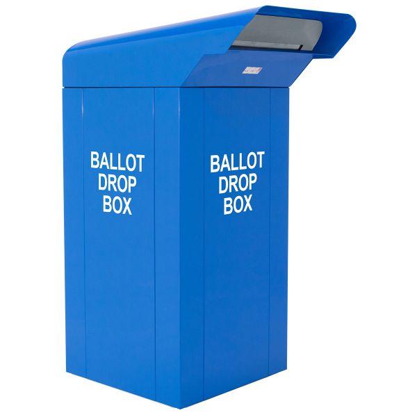 24 inch Drive-Up Ballot Drop Box in Blue