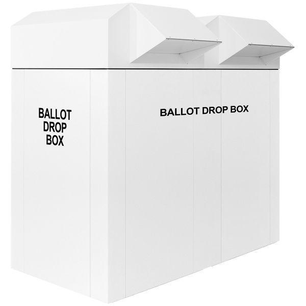 """60"""" Dual Election Ballot Drop Box - White"""