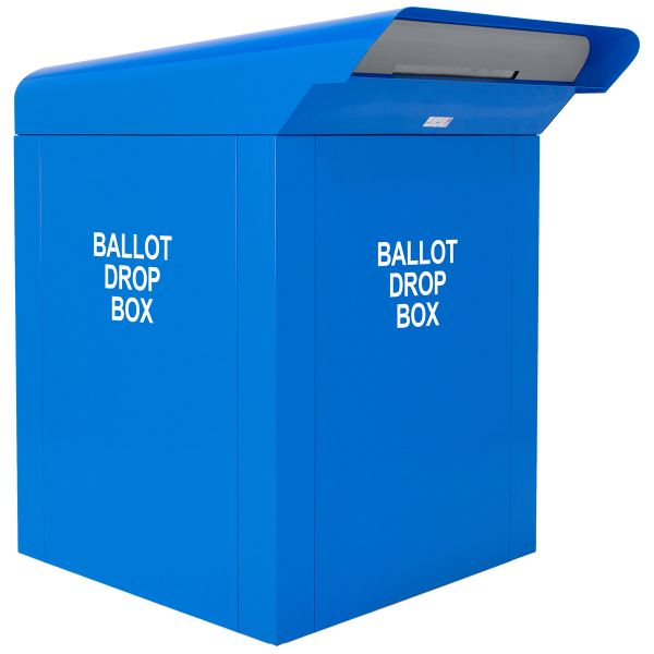 "CollectionPoint 38"" C-Series Ballot Drop Box - Blue"