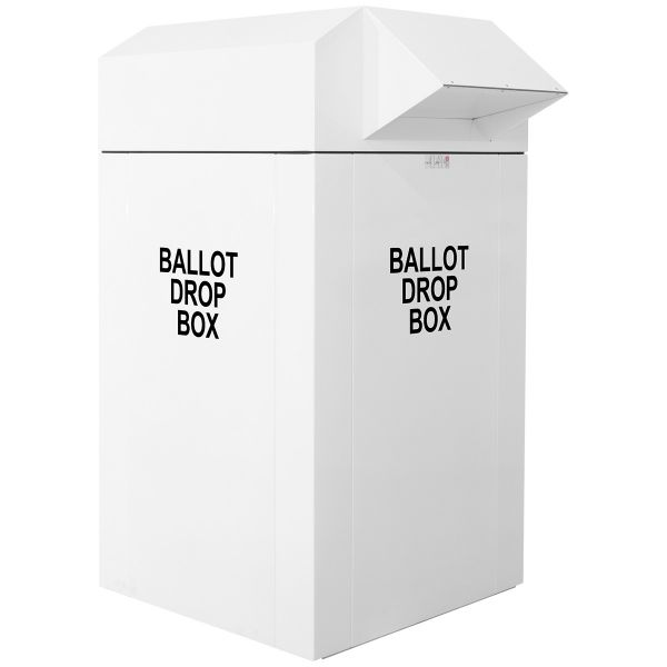 "30"" Curbside Election Ballot Drop Box - White"