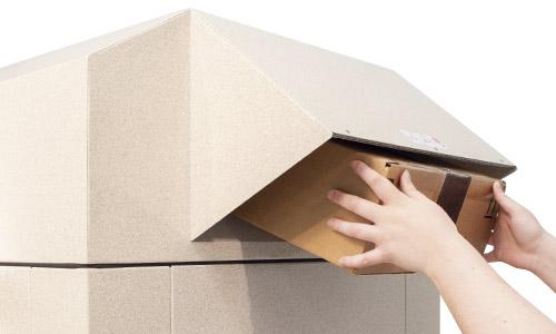 Package being deposited into Sandstone 50 K-Series