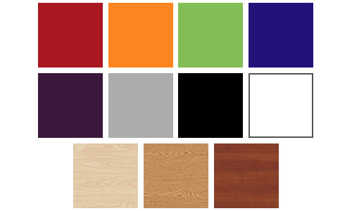 Swatches of all ColorWood Finishes