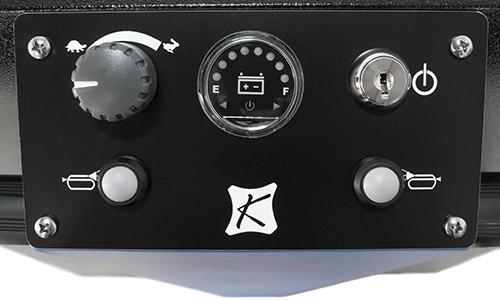 Close up of cart control panel