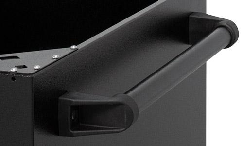 Close up of cart handle