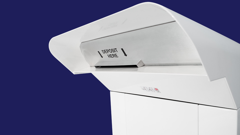 Bill Payment Drop Box hood showing deposit area