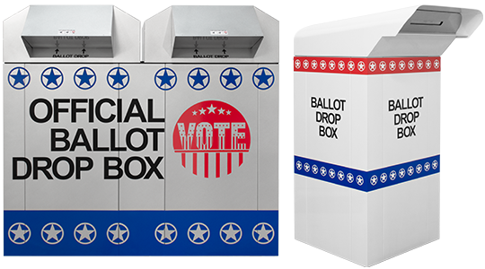 70 K-Series and 30 C-Series Ballot Drop Boxes