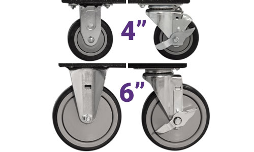 4 inch and 6 inch cart casters