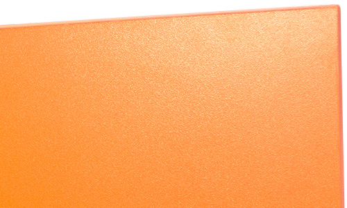 Close-up of the corner of a door on an Orange ColorWood unit