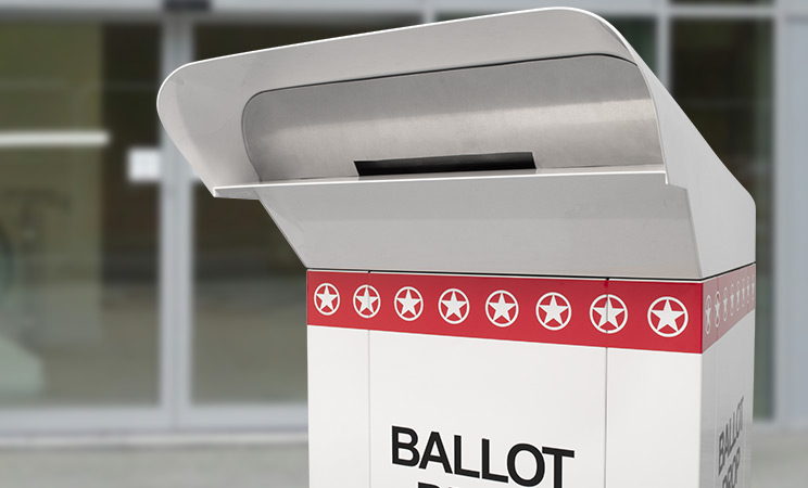 24in C-Series Ballot Drop with custom decals