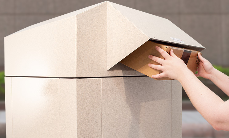 Package being deposited into K-Series