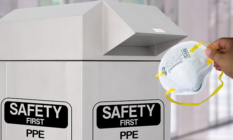 PPE Depository with N95 mask